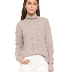 Madewell Khaki wafflestitch wool sweater SZ small